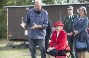 Finn Ole Nielsen and the Queen of Denmark